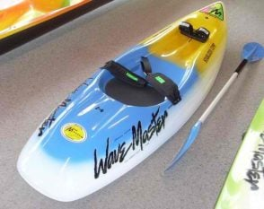 Richard Jones new Wavemaster 2.4 stabalizer comp surf ski