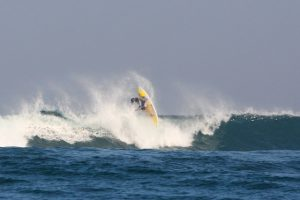 STEVE FARTHING IN BALI ON HIS WAVEMASTER SURF SKI