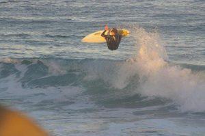 daniel surfing at redhead